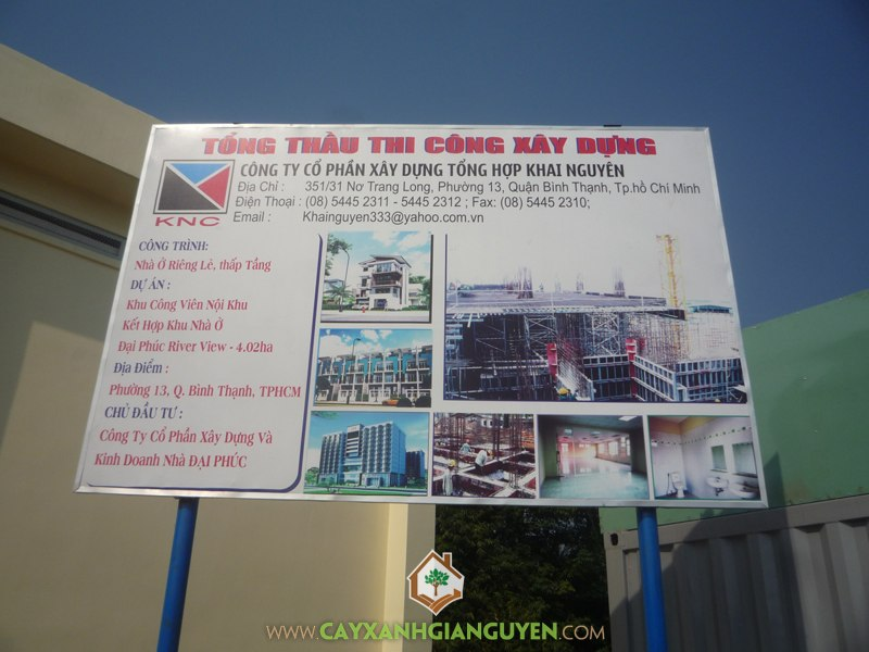 Cây Xanh Gia Nguyễn, thi công, công trình, quận bình thạnh, cây công trình